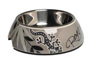 Rogz 2-in-1 Bubble Dog Bowl, Silver Gecko Design