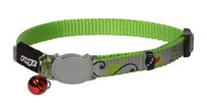 Rogz Catz Reflecto Cat Extra Small 8mm Reflective Kitten Collars are fully adjustable for a neck size from 16-23cm and are fitted with the new Safeloc Breakaway Clip, which allows you to easily adjust the break-away load of the buckle for small cats and kittens. Safety is still the priority so the buckle will still break free if placed under too much strain. Reflecto Cat kitten collars are made from snag-proof webbing with a specially developed weave to prevent running and a screenprinted reflective polyurethane overlay.  There are no open ends or sharp edges and the color-coded bell can be removed if you and kitty would prefer a little peace and quiet. Suitable for most small cat and kitten breeds and sizes.