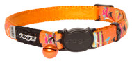 Rogz Catz NeoCat Small 11mm Stylish Cat Collars are fully adjustable for a neck size from 20-31cm and are fitted with the new Safeloc Breakaway Clip, which allows you to easily adjust the break-away load of the buckle for cats of +6.6lbs, +8.8lbs and +11lbs. Safety is still the priority so the buckle will still break free if placed under too much strain. With its color-coded and removable bell, satin-weave nylon webbing with an overlay print, your cat will be able to strut his stuff when out seeking adventure.  All NeoCat collars are scratch-resistant and their rolled edges are stitched as well to ensure no open ends or sharp edges on the product. Suitable for most cat breeds and sizes.