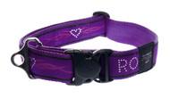 Rogz Fancy Dress Extra Extra Large 40mm Special Agent Dog Collar, Purple Chrome Design(HB04-BJ)