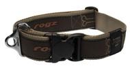 Rogz Fancy Dress Extra Extra Large 40mm Special Agent Dog Collar, Bronze Bone Design(HB04-BM)