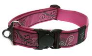Rogz Fancy Dress Extra Extra Large 40mm Special Agent Dog Collar, Pink Bone Design(HB04-BN)