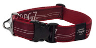 Rogz Fancy Dress Extra Extra Large 40mm Special Agent Dog Collar, Red Heart Design(HB04-BT)