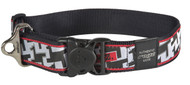 Rogz Fancy Dress Extra Extra Large 40mm Special Agent Dog Collar, Houndstooth Design(HB04-BV)