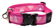 Rogz Fancy Dress Extra Extra Large 40mm Special Agent Dog Collar, Pink Paw Design(HB04-CA)