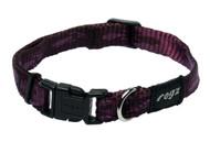 Rogz Alpinist Small 11mm Kilimanjaro Dog Collar, Purple Rogz Design(HB21-E)