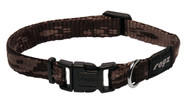 Rogz Alpinist Small 11mm Kilimanjaro Dog Collar, Chocolate Rogz Design(Hb21-J)