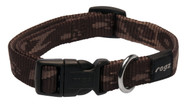 Rogz Alpinist Medium 16mm Matterhorn Dog Collar, Chocolate Rogz Design(HB23-J)