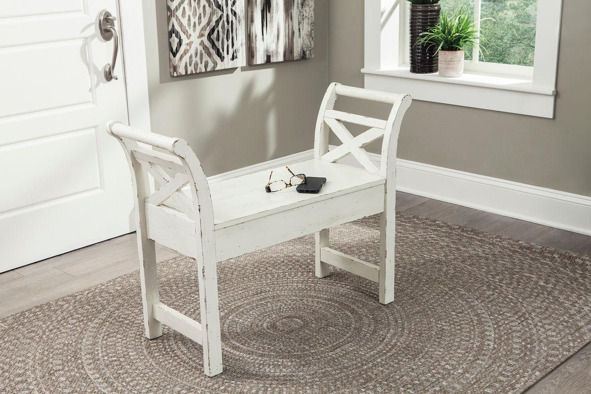 Pleasant Heron Ridge White Accent Bench Creativecarmelina Interior Chair Design Creativecarmelinacom