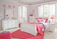 Anarasia White 6 Pc. Dresser, Mirror, Chest & Full Sleigh Bed