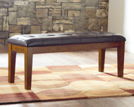 Ralene Medium Brown Large Upholstered Dining Room Bench