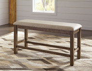 Moriville Beige Double Upholstered Bench