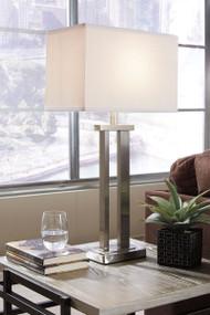Aniela Silver Finish Metal Table Lamp