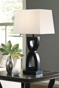 Amasai Black Poly Table Lamp