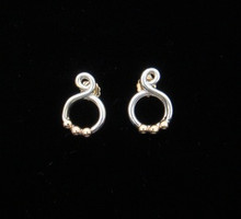 Silver & 14K Hurricane Omar Earrings