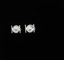 Silver & 14K Gold Hurricane Hugo Earrings