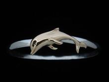 Silver & 14K Gold 5mm Dolphin Bracelet
