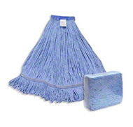 ABCO CLM-303LWB Lg. Blue Looped End Mop WIde Band Blue Blended w/Blue Mesh Mop Tape