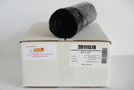 """1.2 Mil 55-60 Gal Heavy Duty Low Density Municipal Can Liners, 43"""" x 47"""", Black - Case of 100"""