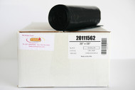 """2 Mil 55 Gal Heavy Duty Low Density Municipal Can Liners, 38"""" x 58"""", Black - Case of 100"""