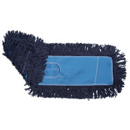 ABCO DM-26518 Loopend Dust Mop With Velcro 5X18 Loopend Blue Dust Mop