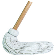 """ABCO CD-5032i Industrial Cotton Deckmop #32 With 1 1/8"""" Wood Handle"""