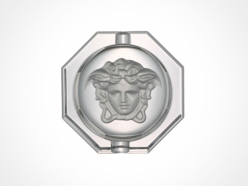 Versace Medusa Lumiere ashtray on white background.