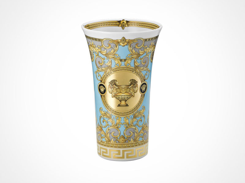 Versace Prestige Gala vase on white background.