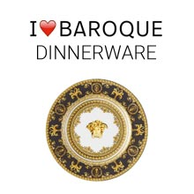Versace I Love Baroque salad plate with logo above