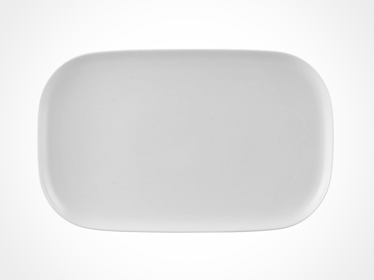 Rosenthal Moon White serving platter on white background.