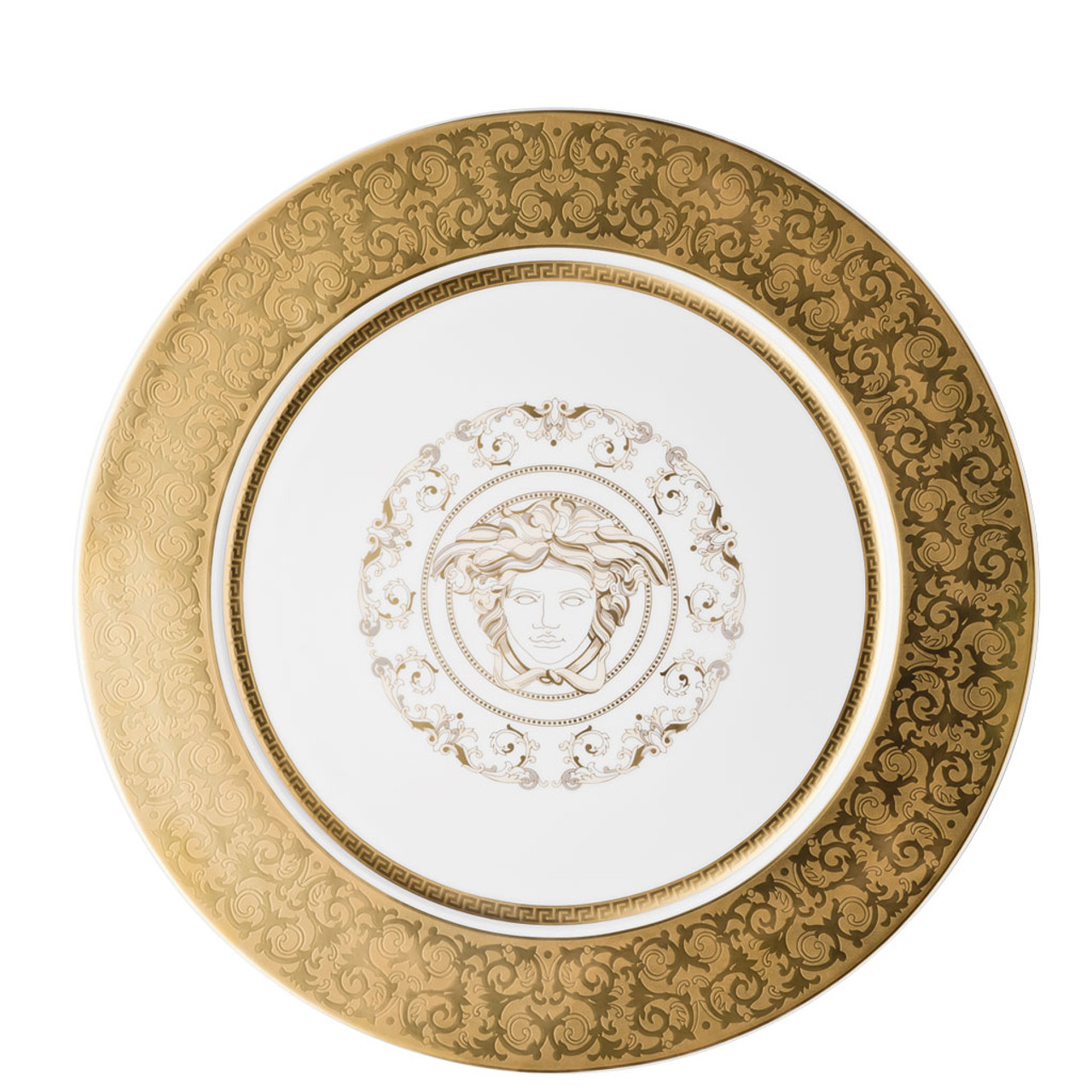 Service Plate, 13 inch | Medusa Gala Gold| Rosenthal Shop