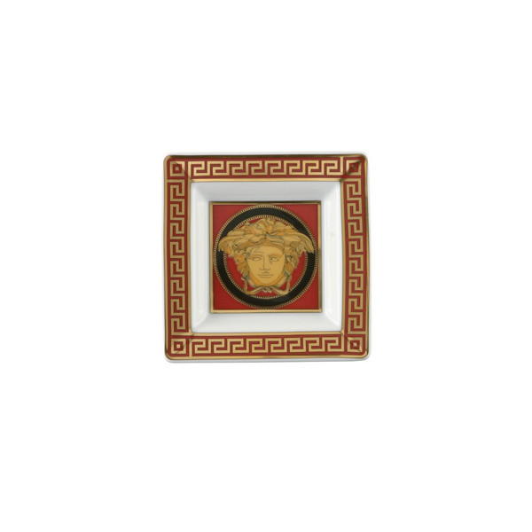 Tray, Porcelain, 3 1/4 inch | Medusa Red
