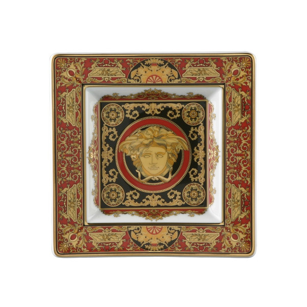 Tray, Porcelain, 5 1/2 inch | Medusa Red