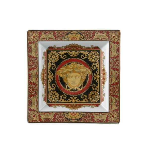 Tray, Porcelain, 8 1/2 inch | Medusa Red