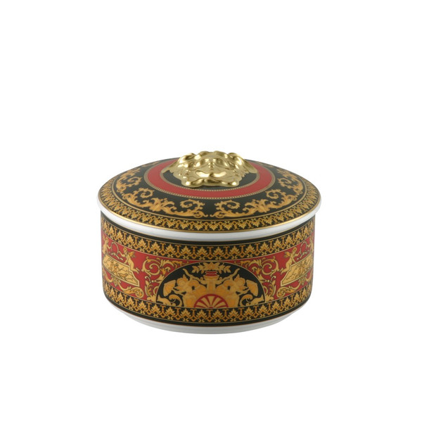 Covered Box, Porcelain | Medusa Red