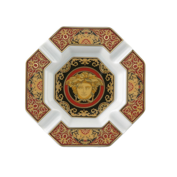 Ashtray, Porcelain, 5 1/2 inch | Medusa Red