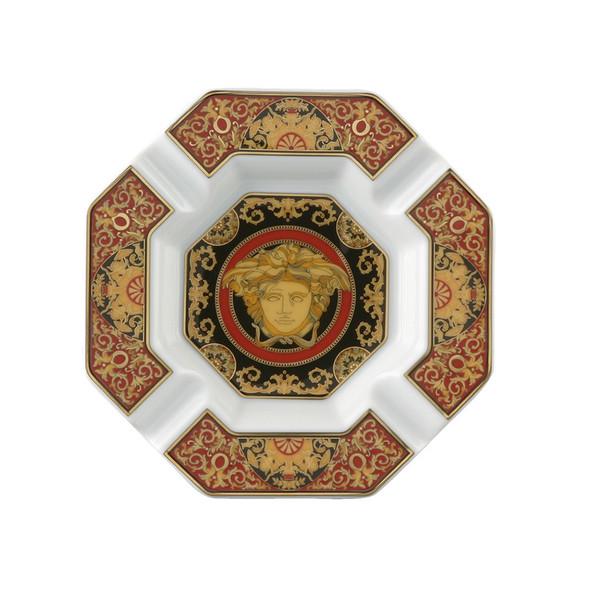Ashtray, Porcelain, 5 1/2 inch | Versace Medusa Red