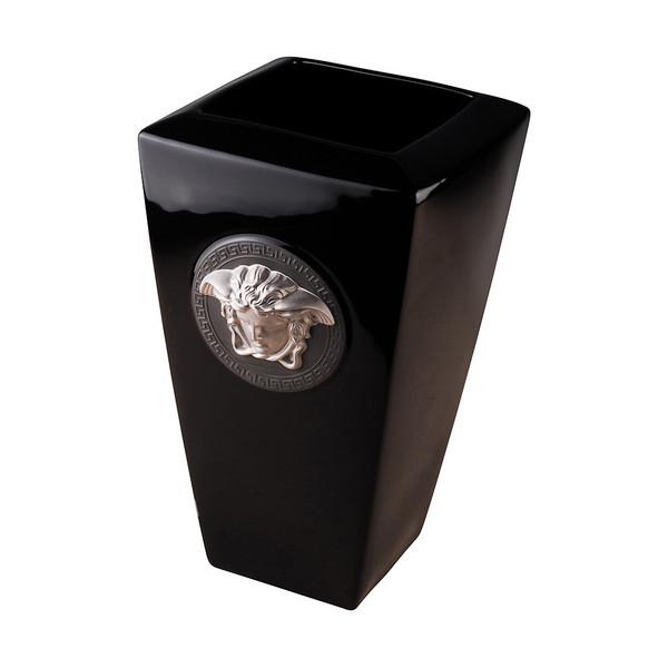 Vase, Porcelain, 12 1/2 inch | Medusa Black