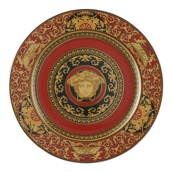 Service Plate, 12 inch | Versace Medusa Red