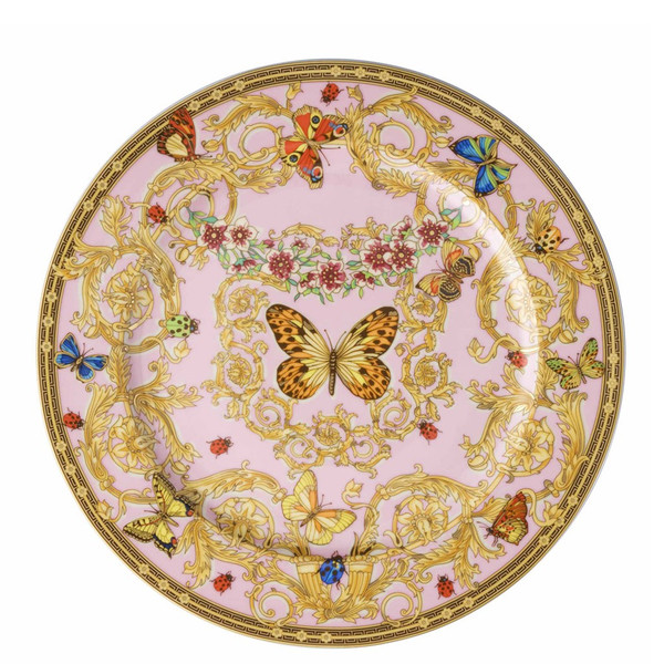 Service Plate, 12 inch | Versace Butterfly Garden