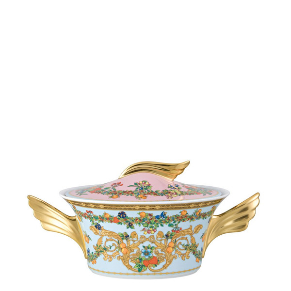 Vegetable Bowl, Covered, 54 ounce | Versace Butterfly Garden