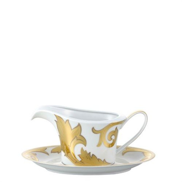 Sauce Boat, 18 ounce | Versace Arabesque Gold