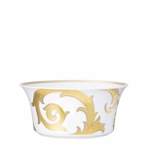 Open Vegetable, 9 3/4 inch, 115 ounce | Versace Arabesque Gold