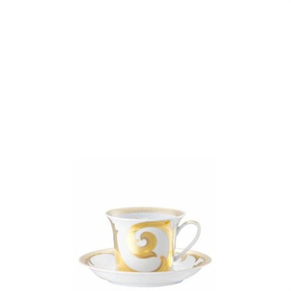 Cappuccino Saucer, 6 inch | Versace Arabesque Gold