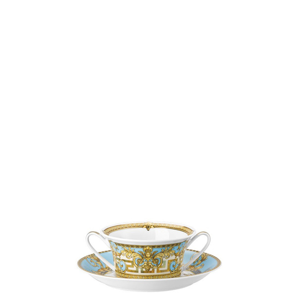 Cream Soup Saucer, 6 7/8 inch | Versace Prestige Gala Bleu