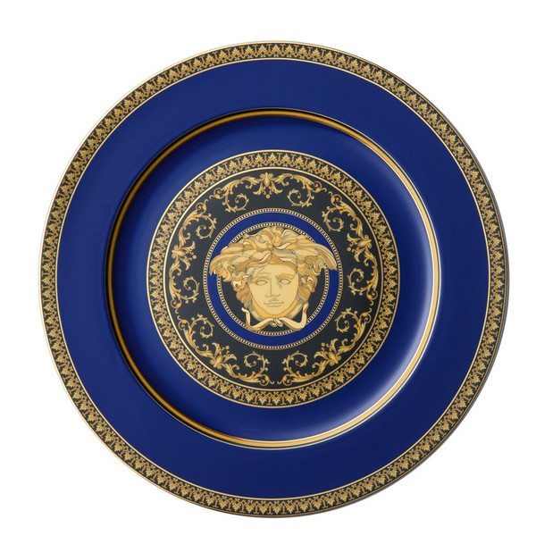 Service Plate, 12 inch | Medusa Blue