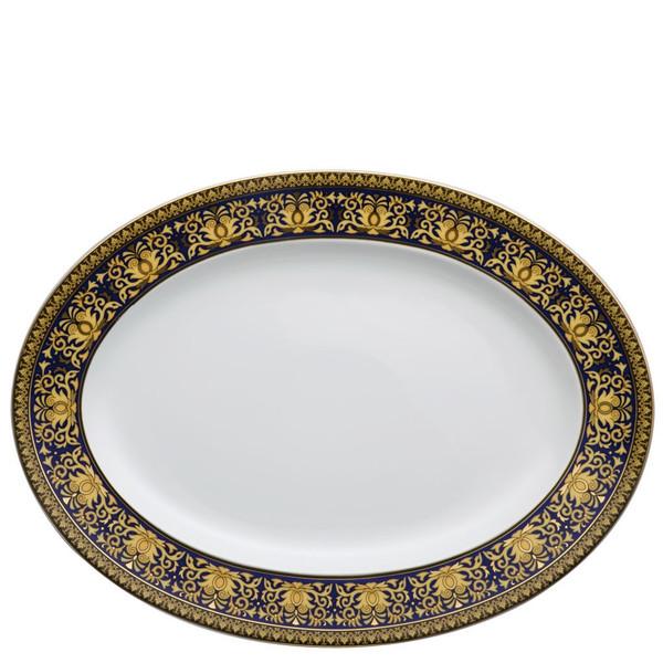 Platter, 15 3/4 inch | Medusa Blue