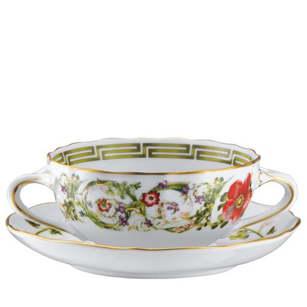 Cream Soup Cup, 9 ounce   Flower Fantasy