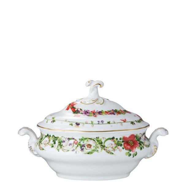 Vegetable Bowl, Covered, 50 ounce   Flower Fantasy