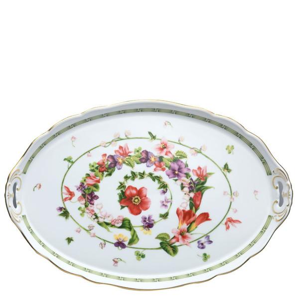 Platter, 17 1/4 inch   Flower Fantasy